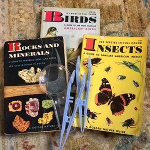 Vintage Rocks, Birds & Insects Guidebooks Bundle
